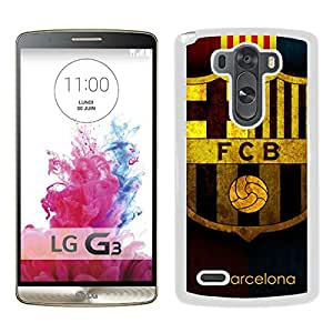 Unique Custom Designed Cover Case For LG G3 With Barcelona White Phone Case 12