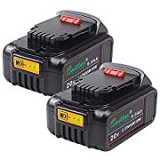 TenMore DCB206 6.0Ah Replacement Battery for DeWalt 20V Max XR DCB200 DCB205 DCD DCG DCF DCS DCK DCL Power Tools,2-Pack