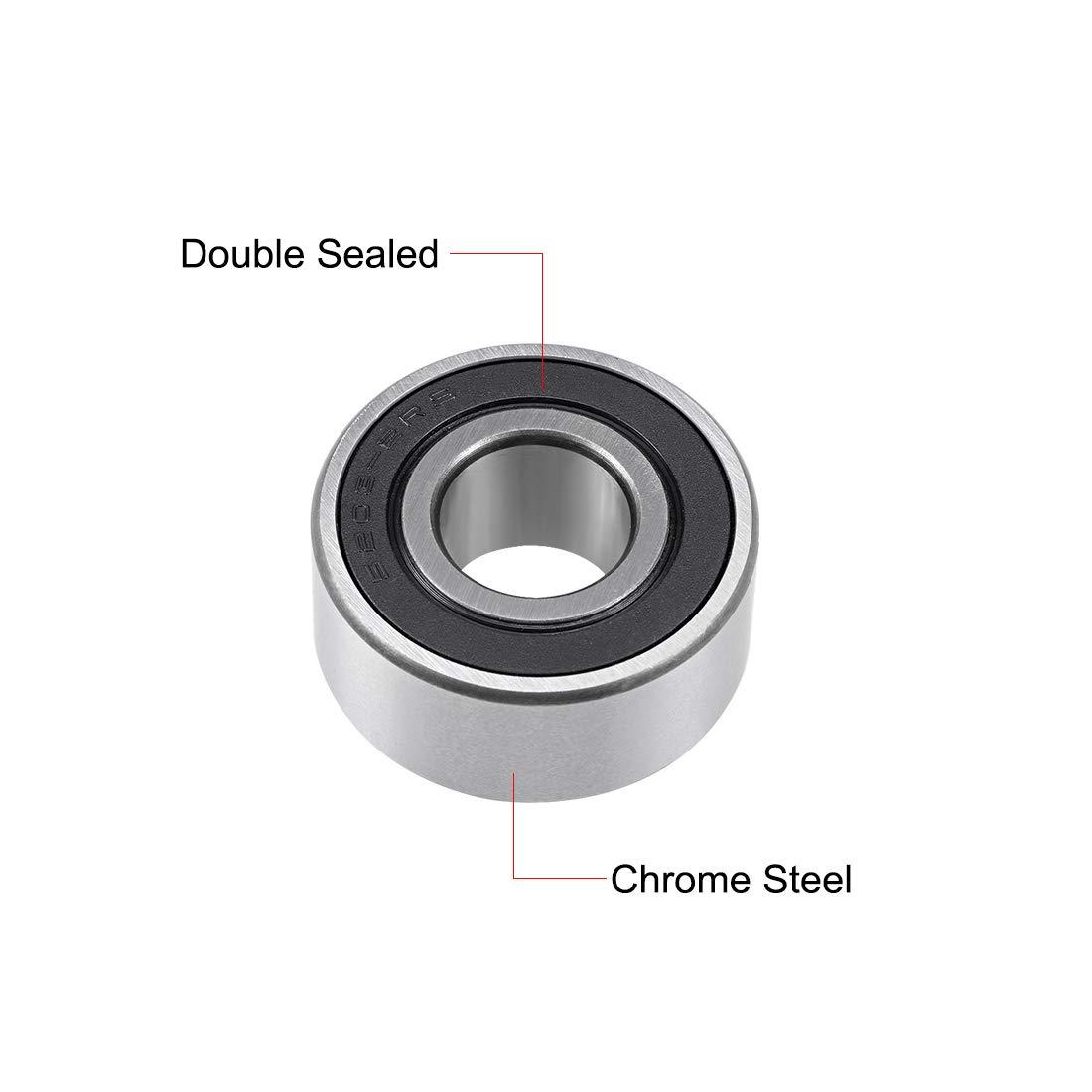 10x30x14.3 mm 5x 5200 2RS Double Row Sealed Angular Contact Ball Bearings
