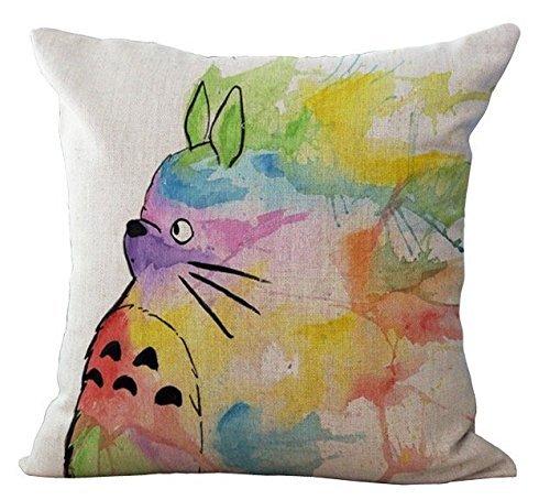 Watercolour Drawing Totoro Decorative Pillows Case Cover Vin