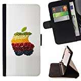 SHIMIN - FOR Apple Iphone 4 / 4S - Beautiful Fruits - Personalized Design Custom Style PU Leather Case Wallet Flip Stand