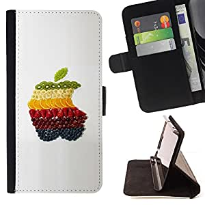 For Sony Xperia Z2 D6502 - Fruit Macro Apple Fruits /Funda de piel cubierta de la carpeta Foilo con cierre magn???¡¯????tico/ - Super Marley Shop -