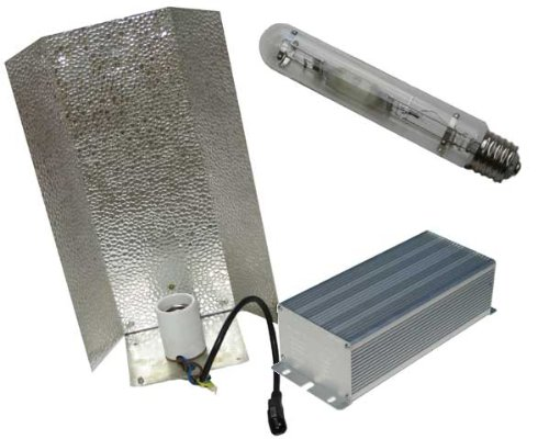 250W HPS Digital Ballast, Bulb and Economy Reflector Combo- 120/ by HIDHUT