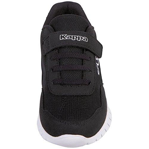 Kappa Unisex-Kinder Follow Kids Sneaker Schwarz (1110 White/Black)