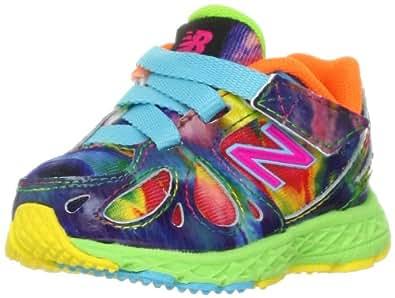 New Balance KV890 Alpha Running Shoe (Infant/Toddler),Rainbow Blue,2 M US Infant