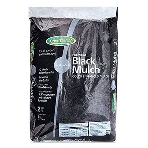 GARICK BG2CFDMBGT Green Thumb Mulch, 2 cu. ft, Black by garick corporation