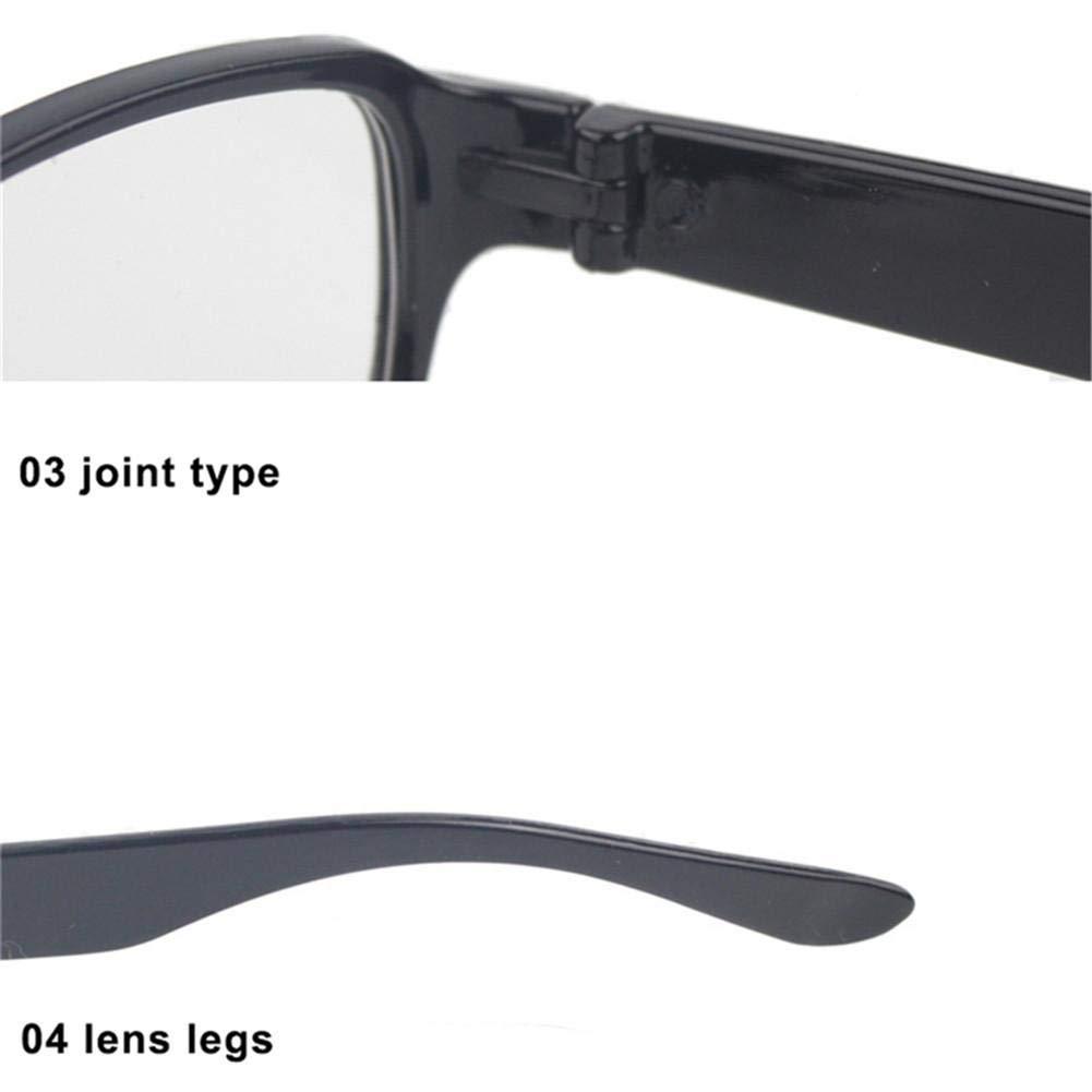 Presbyopic Lesebrille Magnettherapie Augen Schutzst/ärke f/ür /ältere Menschen braun