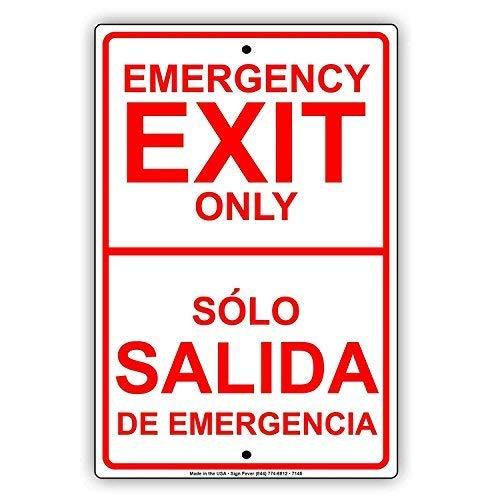 Tarfy Emergency Exit Only S Atilde; Lo Salida De Emergencia ...
