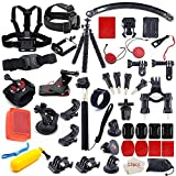 MOUNTDOG 55-in-1 Action Camera Accessories Kit for GoPro Hero 7 8 6 5 4 3 Hero Session 5 Black Accessory Bundle Set for Apexcam AKASO Dragon Touch Campark Apeman Yi VanTop