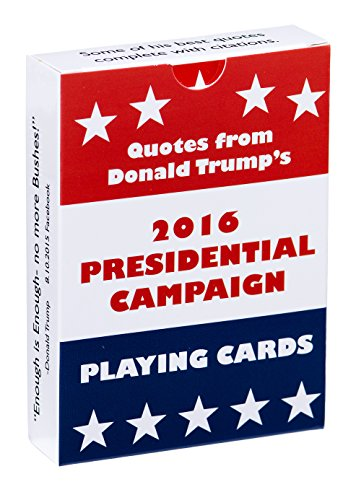 Waggish Works Donald Trump Playing Cards (Black) - Presidential Novelty Cards with 2015 Trump Quotes and Tweets - Standard 54-Card Deck for Poker, Rummy and More - Printed on Coated, 310 GSM (310 Paper)