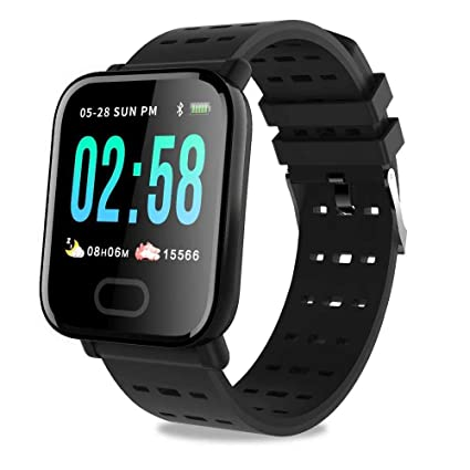 Amazon.com: Upgraded Bluetooth Smart Watch, A6 Touch ...