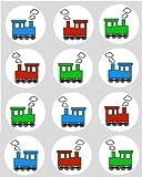 12x Jouet Train décoration papier de riz fée / cupcake 40mm pré coupe décoration