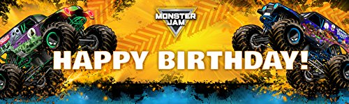 Monster Jam - Birthday Party Supplies - Vinyl Birthday Banner 18