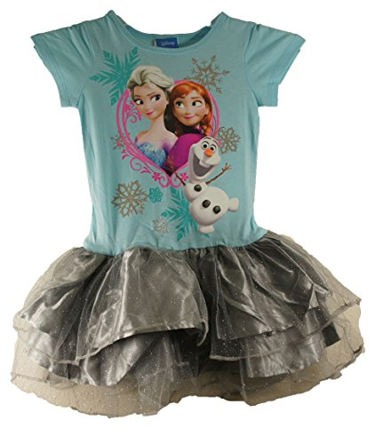 Frozen Disney Sisters Anna, Elsa and Olaf Tutu Dress Costume (7-8/M)