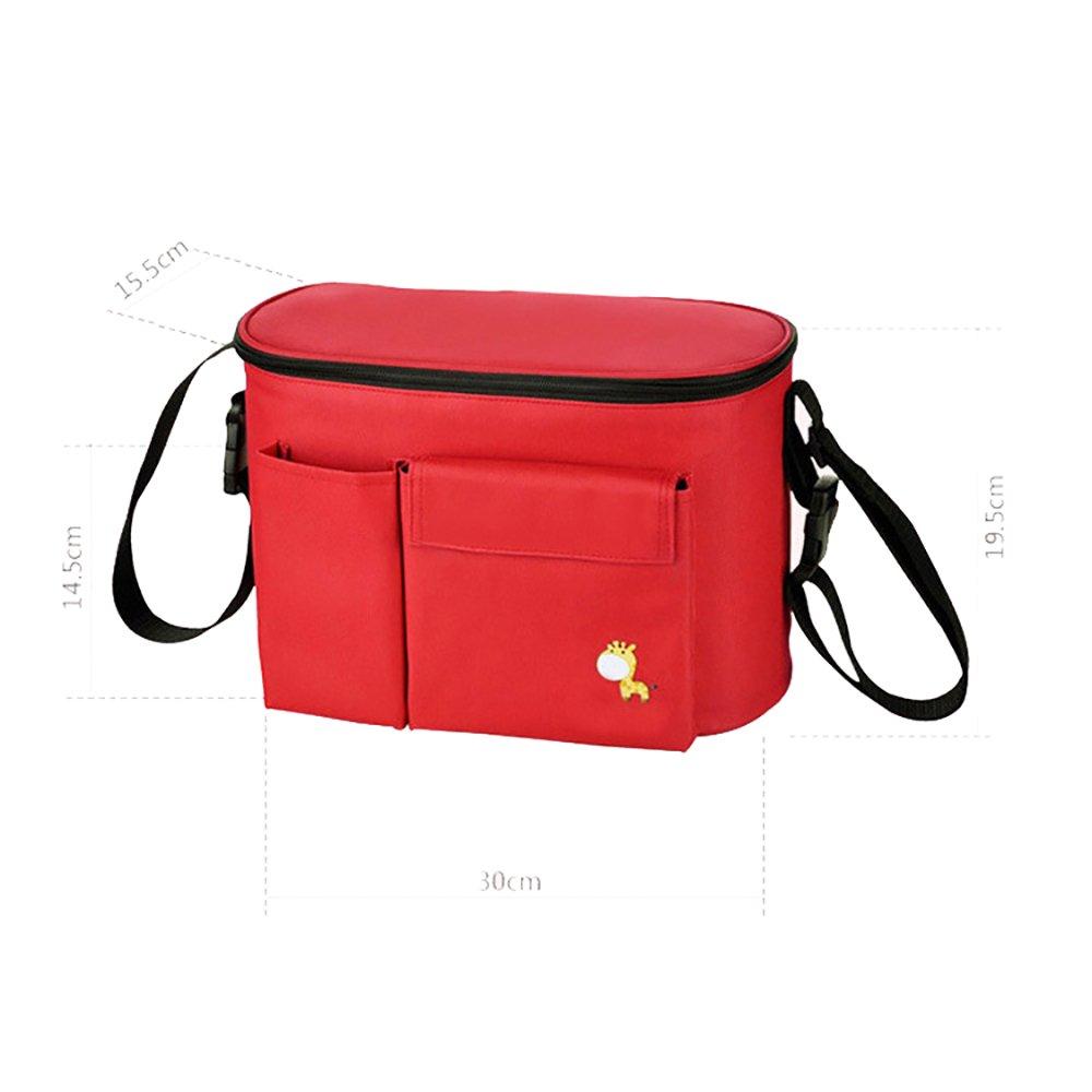 appeso borsa per passeggino bambino carrello organizzatore biberon e pannolino passeggino borsa di conservazione di calore Toprated