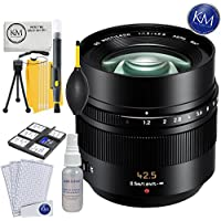 Panasonic Nocticron 42.5mm f/1.2 Lens + K&M Lens Bundle