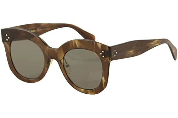 31a0598445d9 Image Unavailable. Image not available for. Color  Celine CL41443 S 07B  Havana Brown Chris Butterfly Sunglasses ...