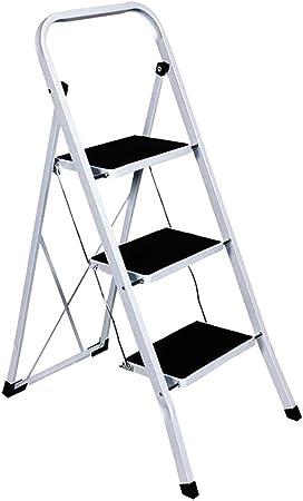 Tool-Genius Ltd - Escalera plegable con peldaños antideslizantes, de aluminio, con 2, 3 o 4 peldaños, 3 TREAD: Amazon.es: Hogar