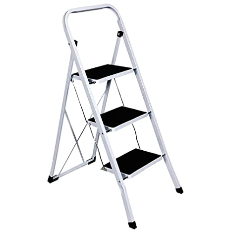 Miraculous Foldable 2 3 4 Step Ladder Non Slip Tread Stepladder Safety Steel Kitchen 4 Tread By Tool Genius Ltd Squirreltailoven Fun Painted Chair Ideas Images Squirreltailovenorg