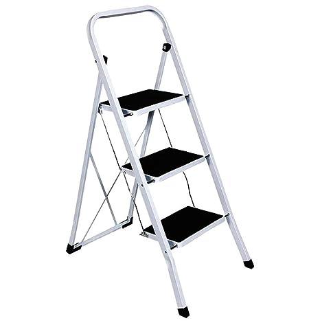 Fabulous Foldable 2 3 4 Step Ladder Non Slip Tread Stepladder Safety Steel Kitchen 4 Tread By Tool Genius Ltd Machost Co Dining Chair Design Ideas Machostcouk