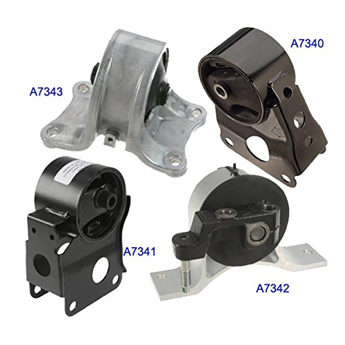 Parts Engine Auto - Fits: Engine Motor & Trans. Mount Set 4PCS for 2002-2006 Nissan Altima 2.5L for Auto Transmission