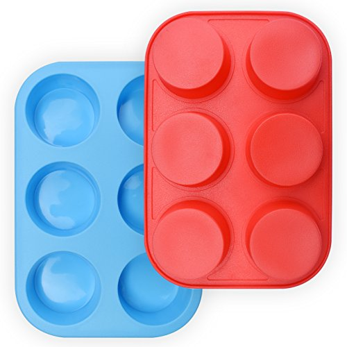 homEdge Silicone Non Stick Cupcake Molds Blue product image