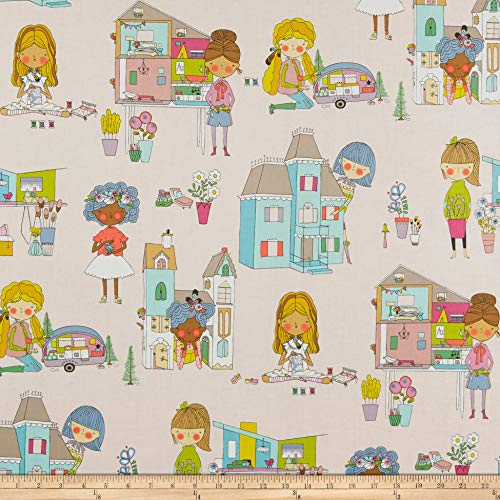 Alexander Fabric Henry (Alexander Henry Welcome To My Doll House Fabric, Pink, Fabric By The Yard)