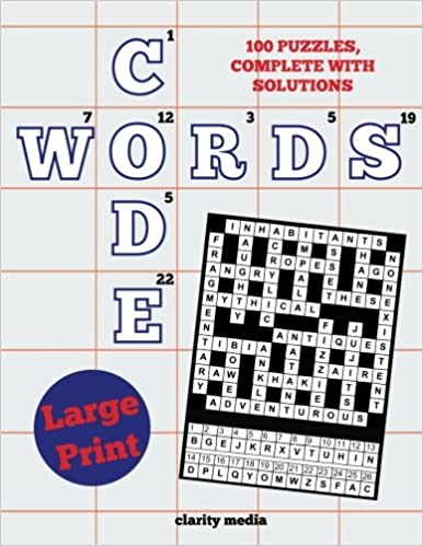 image about Codeword Puzzles Printable named High Print Code Terms: 100 clean code phrase puzzles, inside enormous