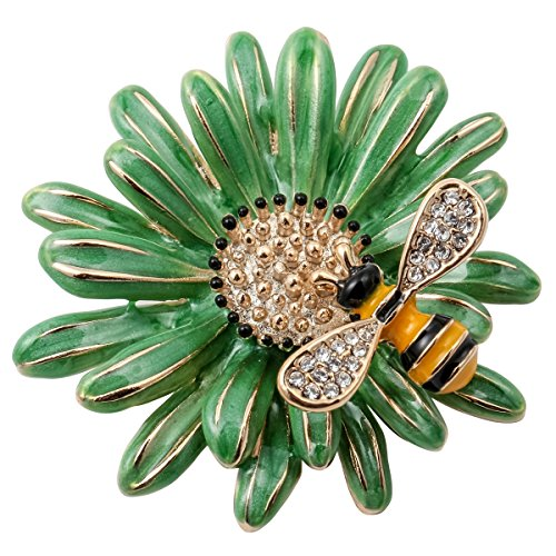 (Szxc Jewelry Sun Flower Enamel Bee Insect Series Brooch Pin Accessories For Her Women)