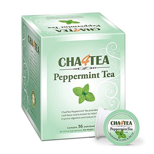 Cha4TEA Peppermint Herbal 36 Count Keurig