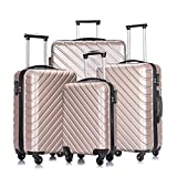 Best Hardshell Luggages - 4 Pcs Luggage Sets Suitcase Sets Spinner Wheel Review