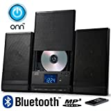 ONN Bluetooth Audio Compact Home CD Music Shelf System Limited Edition Vertical-loading with Stereo Dynamic Speakers ONA-015 (Certified Refurbished)