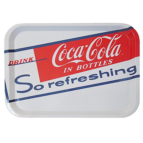 White Navy Coca Cola Serving Melamine