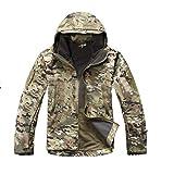 Evaric Mens Military Waterproof Windproof Outdoor Carmpin Jacket Soft Shell Coat Pants Camo CP/JacketM