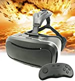 3D VR Glasses + Controller,JDKCOOL 3d Virtual Reality Headset Adjust Cardboard Video Movie Game Box for iPhone 6s/6 plus/6/5s/5c/5 Samsung Galaxy s5/s6/note4/note5 and Other 3.5''-6.0'' smartphones