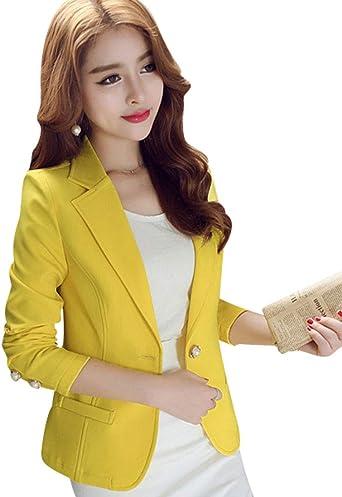 Kaiyei Mujer Otoño Primavera Blazers y Chaquetas Trabajo Oficina ...