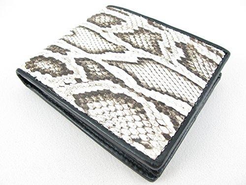 PELGIO Genuine Python Snake Skin Leather Bifold Wallet (Burmese Natural)