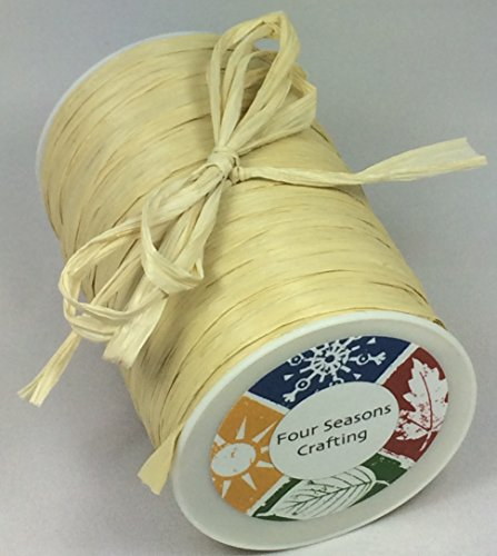 "Four Seasons Crafting Natural Matte Raffia Ribbon 1/4"" X 100 Yds."