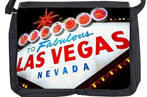 Borsa Tracolla Retro Arte Metropole Las Vegas Nevada Stampato