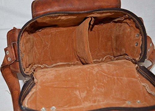 Fotocamera A Pelle Pure Silkroude Marrone Obiettivo Per Fatto Mano Tracolla Cartella Messenger In vpqwXEw