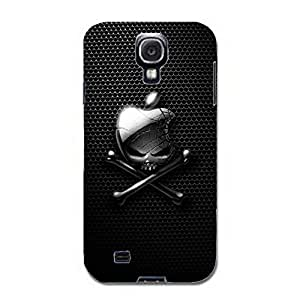 Skull Design Luxury Logo 3D Hard Phone Case for Samsung Galaxy S4 I9500 Apple Logo Phone Case