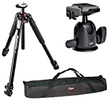 Manfrotto MT055XPRO3 Aluminium 3-Section Tripod kit with 496RC2 Ball Head and A Bonus VidPro 35 inch Tripod Carrying Case with Strap