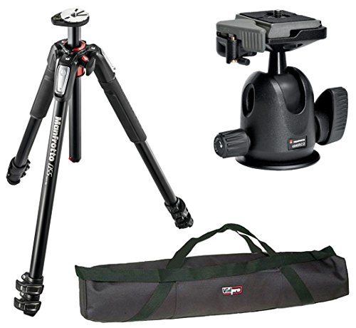 Manfrotto MT055XPRO3 Aluminium 3-Section Tripod kit with 496