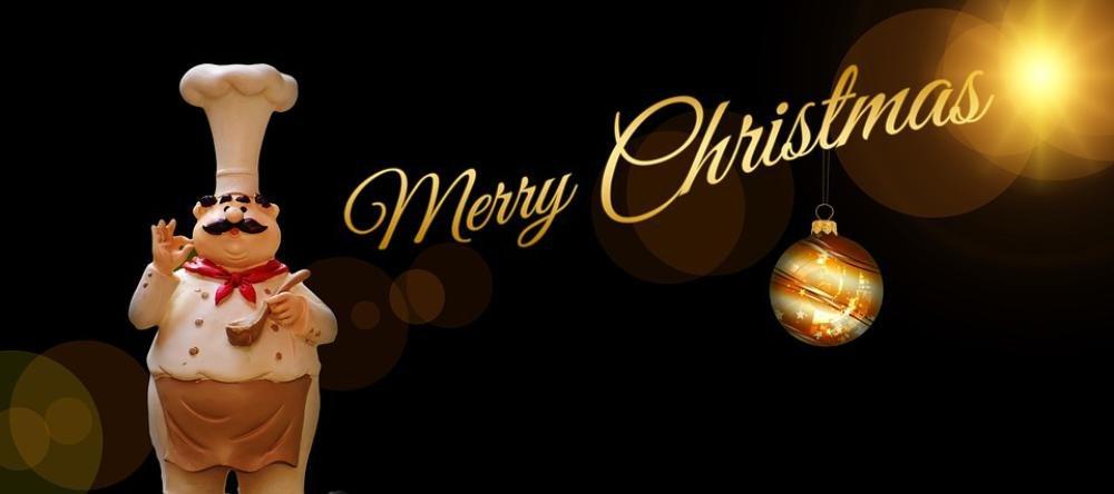 ラミネート54 x 24ポスター:クリスマス料理シェフHolidays Greetings Easter Bunny Hoax Joke Funny Sympathetic Greeting Cardクリスマスグリーティングクリスマスカードクリスマスモチーフ背景フォント B0764MRVM7