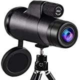10x42 High Power Monocular Telescope Low Night Vision BAK4 for Adults Hunting Bird Watching Camping Outdoor Sporting