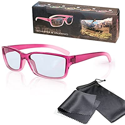 """3D Movie Glasses for Children - High Quality - pink / transparent - Passive Circularly Polarized - For Reald 3D Cinema and Passive 3D Tvs Such As Lg """"Cinema 3d"""", Philips """"Easy 3D"""", 3D Televisions From Sony, Toshiba, Panasonic, Grundig, Hisense, Finlux and"""