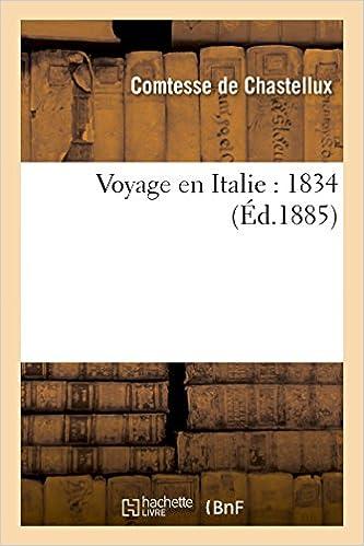 Lire en ligne Voyage en Italie : 1834 epub, pdf