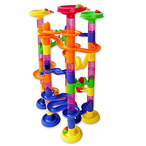 Marble Race Deluxe DIY Construction Marble Race Run Play Set Maze Balls Track Building Blocks Toy Baby Kid Gifts
