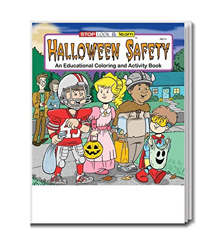 Halloween Safety - Kid's Coloring & Activity Book in Bulk (25-Pack)