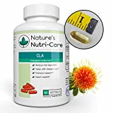 Nature's Nutri-Care CLA Safflower Oil Weight Loss - 1000 mg - 60 Softgels - Weight Loss and Muscle Growth Supplement - Conjugated Linoleic Acid- Made in USA, 60